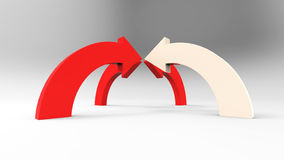 Красные стрелки на белой предпосылке Стоковые Изображения RF