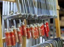 Красные струбцины клея Стоковые Фото