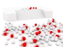 красные сферы белые Стоковые Фото