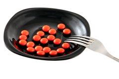 Красные таблетки Стоковое Фото