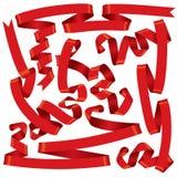 красные тесемки Стоковое фото RF