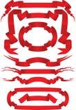 красные тесемки иллюстрация вектора
