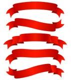 красные тесемки Стоковые Фото