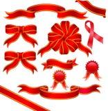 красные тесемки Стоковая Фотография