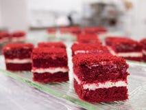 Красные торты бархата Стоковое фото RF