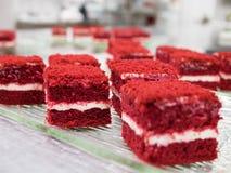 Красные торты бархата Стоковое Изображение RF