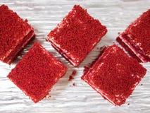 Красные торты бархата Стоковое Изображение