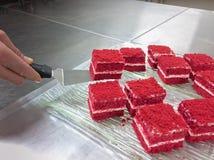 Красные торты бархата Стоковые Изображения RF