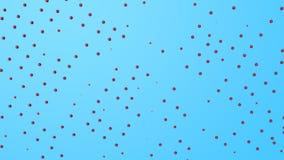Красные трехмерные полусферы двигают на светлое - голубая предпосылка r r акции видеоматериалы
