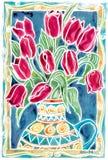 красные тюльпаны Стоковые Фото