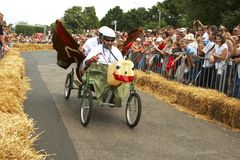 Красные участники гонки Bull Стоковое Изображение RF