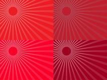 Красные лучи солнца 10 eps Стоковая Фотография