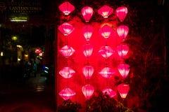 Красные фонарики в Hoi, Вьетнаме Стоковые Фотографии RF