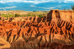 Красные холмы пустыни Стоковая Фотография RF