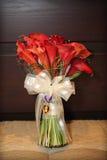 Красные цветки лилии Calla Стоковое Изображение