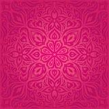 Красные цветки, шикарный декоративный флористический дизайн мандалы предпосылки моды иллюстрация вектора