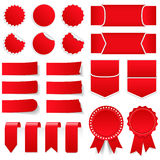 Красные ценники и стикеры Стоковые Фото