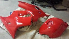 Красные части мотоцикла Стоковое фото RF
