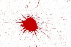 Красные чернила брызгают Стоковые Изображения
