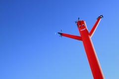 Красные человек и луна воздушного шара Стоковые Фото