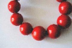 Красные шарики иллюстрация вектора
