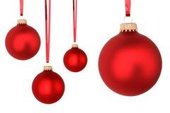 Красные шарики рождества Стоковые Изображения RF
