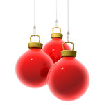 Красные шарики рождества иллюстрация штока