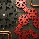 Красные шестерни Стоковая Фотография RF