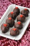 Красные шипучки торта бархата Стоковая Фотография RF