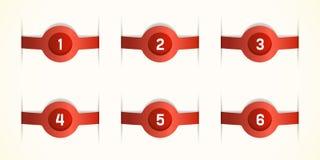 Красные этикетки Стоковые Изображения RF