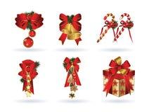 Красные элементы рождества Стоковые Изображения
