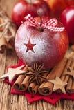 Красные яблоки зимы стоковые изображения rf