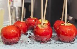 Красные яблоки конфеты Стоковое фото RF