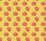 Красные яблоки с картиной листьев Стоковое Изображение