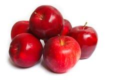 Красные яблоки. Стоковые Фото