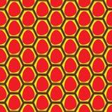Красные яичка отжатые в коробках яичек Стоковые Фотографии RF