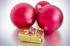 Красные baubles Кристмас стоковое фото