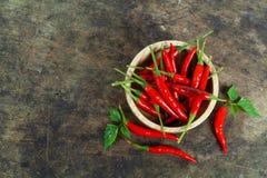 Красные chili и порошок chili Стоковая Фотография