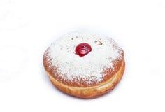 Красные Donuts студня для Хануки Стоковые Изображения