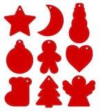 Красные Hangtags рождество или Новый Год, иллюстрация вектора запаса бесплатная иллюстрация