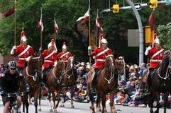 Красные lancers в параде стоковая фотография