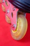 красные rollerblades Стоковое фото RF