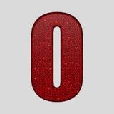 Красные sequins поют Алфавит Sequins 10 eps Стоковая Фотография RF