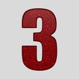 Красные sequins поют Алфавит Sequins 10 eps Стоковые Фотографии RF