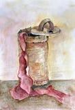 Красные silk чулки бесплатная иллюстрация