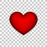 Красный абстрактный знак сердца с прозрачной предпосылкой Стоковые Изображения