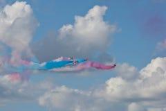 Красный авиапорт RAF авиасалона Fairford команды дисплея аэроплана стрелок Стоковое Фото