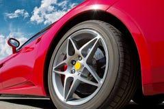 Красный автомобиль спортов Стоковое Изображение