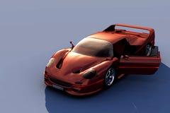 Красный автомобиль стоковые фото