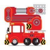 Красный автомобиль 2 спасения Стоковая Фотография RF